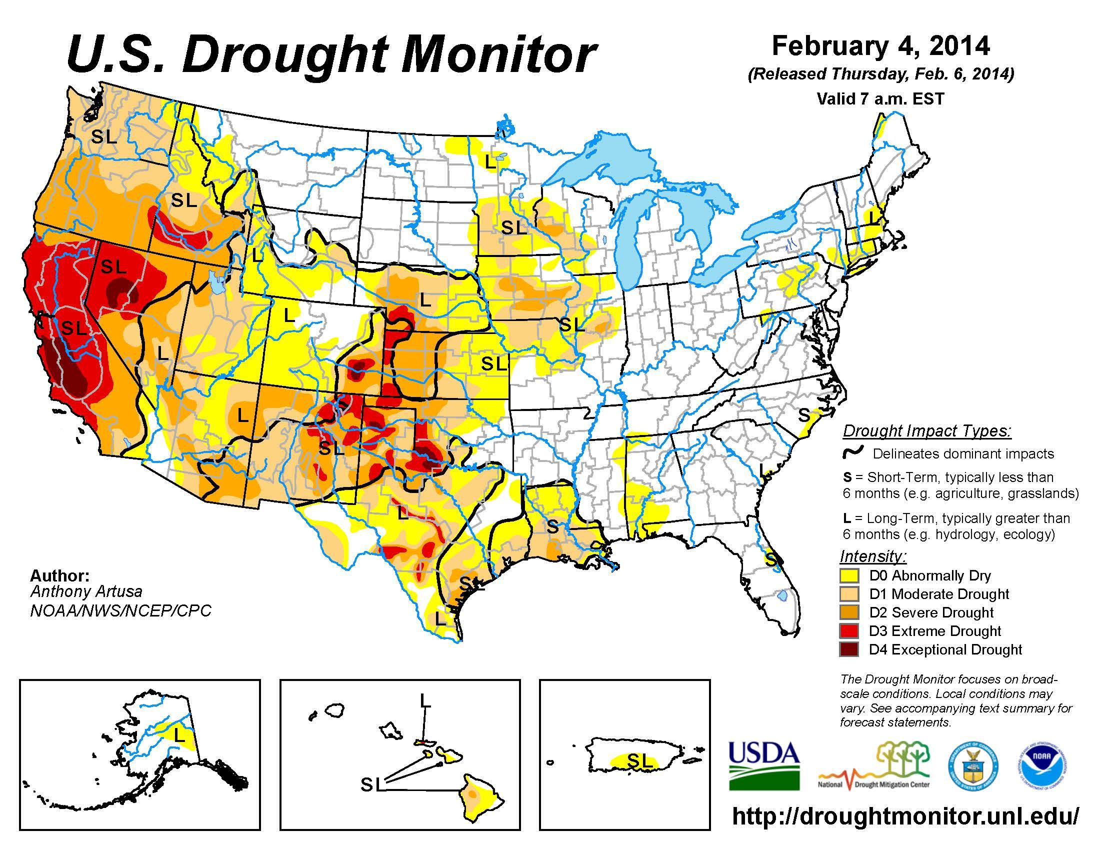 u s drought monitor