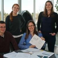 Oceanography graduate students Seth Bushinsky, Emily Newsom, Ashley Maloney and Andrea Fassbender