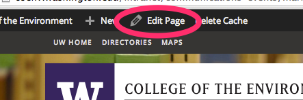 Edit Page button