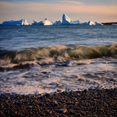 Along the Greenland shore.