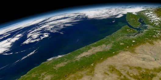 The coast of the Pacific Northwest from space
