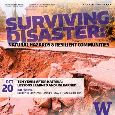 The Surviving Disaster series includes lectures from journalist Jed Horne and other natural hazards experts!