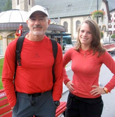 Doug Walker with daughter Kina in Switzerland.