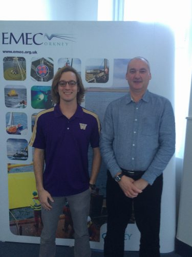 Neal McMillin at the European Marine Energy Centre in Orkney, Scotland.