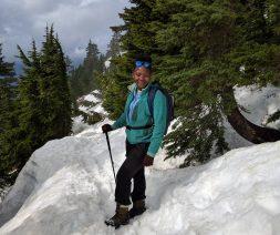 Bogezi doing fieldwork in the Cascades.