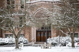 Snow on the UW campus
