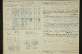 Ship log from 1955