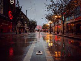 Rainy Pike Place market