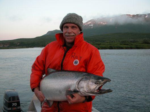 Ray Hilborn holding Chinook