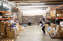 PPE donation site at UW Surplus.