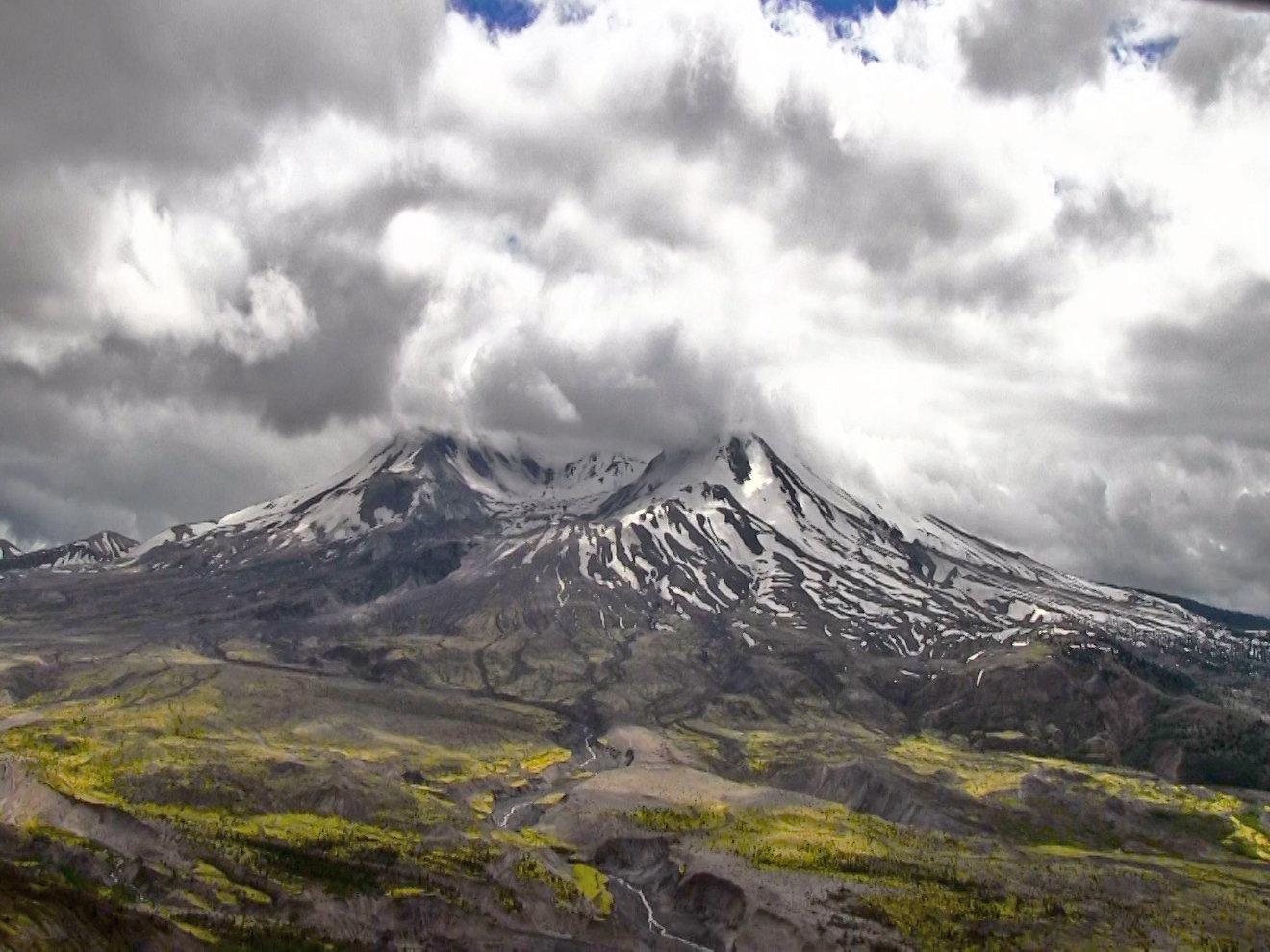 Mount St. Helens post eruption.