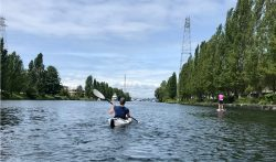 kayaker in Seattle's Ship Canal