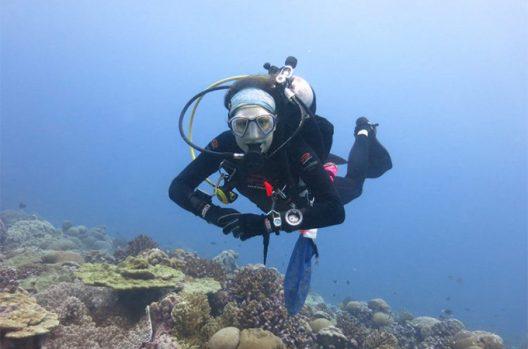 Danielle Claar near Christmas Island.