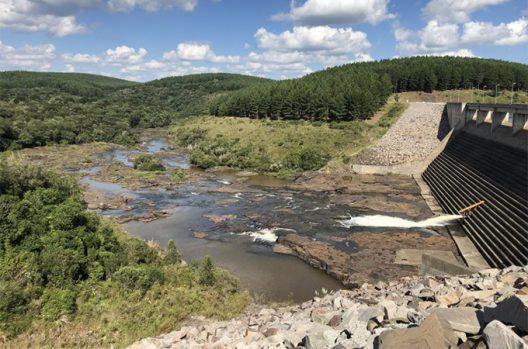 A small hydropower dam in Brazil.