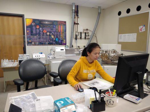Yan working in the lab.
